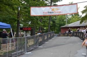zig-zagging my way to the race finish