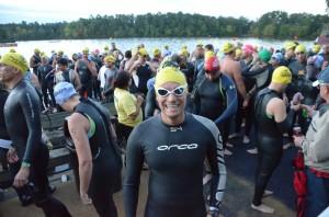 pre-race Swim start