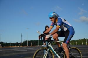 Tony nears end of bike ride