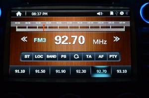 Car radio interface