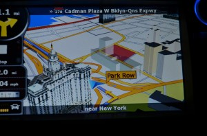igo Navigation showing NYC 3d
