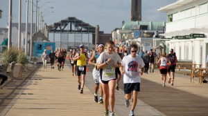 Runners complete run leg of TriRock Triathlon