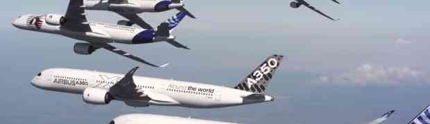 Cool Airbus formation flying promo