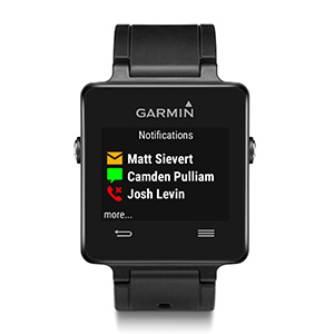 Garmin vívoactive - showing notifications
