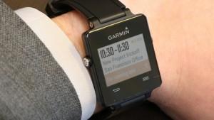 Garmin vívoactive - showing calendar appointment