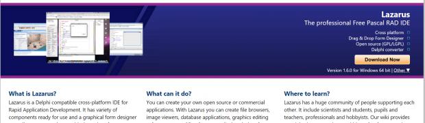 Re-discovering Windows & Linux cross platform Development IDE Lazarus
