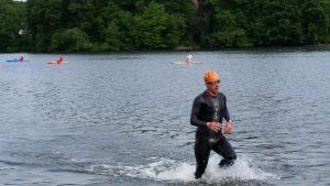 2.4mi. swimmer finishing