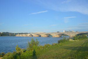 View of Potomac near Arlingont Mem. Bridge- no swimming today