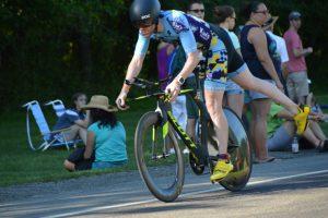 a rider gracefully dismounts